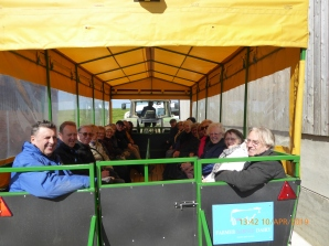 Visitors on Trailer Ride